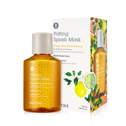Сплэш-маска для сияния Blithe Energy Yellow Citrus&Honey Splash Mask